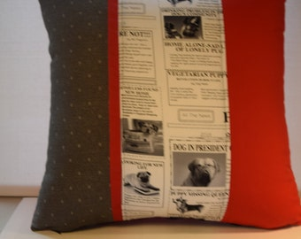 Newspaper Dogs (Red)