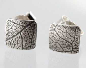 "Earrings ""leaf structure no.. 3"""