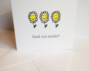 Thank you teacher fingerprint card