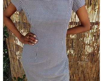 Vintage Checkered Danny and Nicole Dress