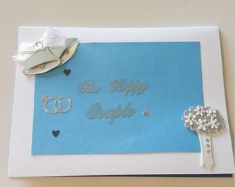 Handmade wedding card *congrats*