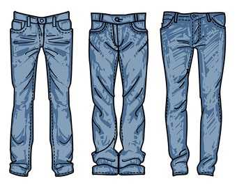 Jeans clipart | Etsy - photo#17