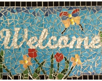 Mosaic wall plaque