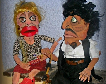 Personalized custom made puppets. Great realism in their movements