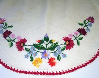 Hungarian Hand-Embroidered Kalocsai Apron