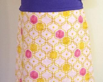 A - line skirt with geometrical sample