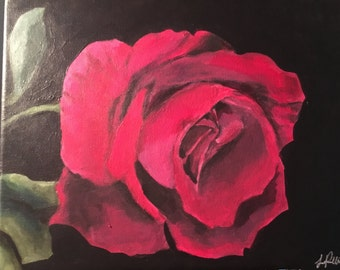 8x10 Painted Rose