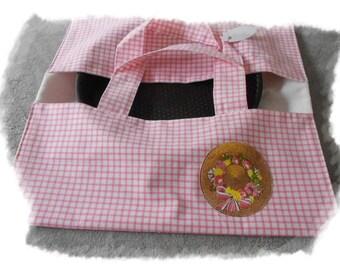 "Handbag cake ""Vichy pink"""