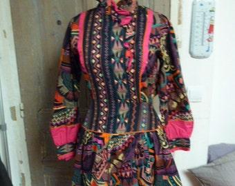 dress vintage multicolor