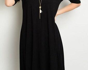 Solid keyhole cut out shoulder high low dress