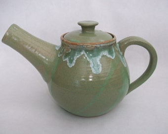Lime green and mint teapot/