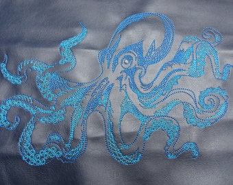 Sotis Octopus bi-colour embroidery file for frame size 13 x 18 and 16 x 26