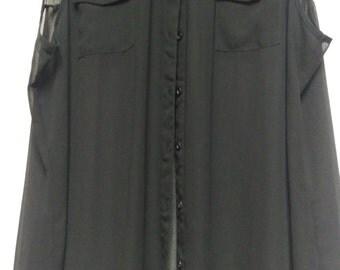 Studded chiffon shirt