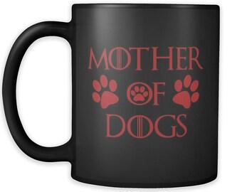 Mother Of Dogs Black Mug 04