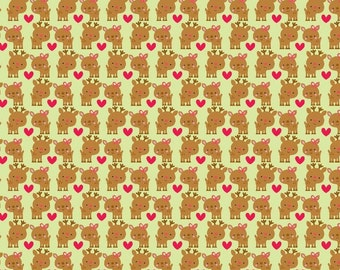 """Christmas Fabric: Santa Express - Rudolph Fabric Light Green by Riley Blake 100% cotton Fabric by the yard 36""""x44"""" (H171)"""