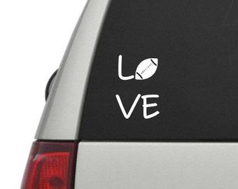 Vinyl Car Decal Football Love