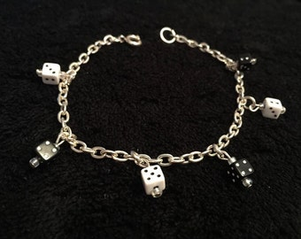 Black and White Dice Bracelet