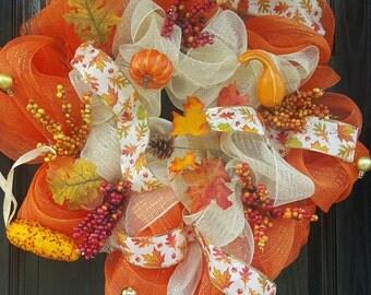 Totally Festive Fall Wreath