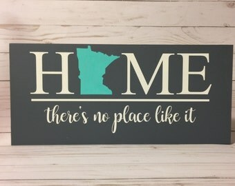 Minnesota State Home Sign