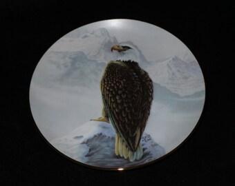 """1989 Artaffects Perillo's North American Wildlife """"American Bald Eagle"""" Collector Plate by Gregory Perillo"""
