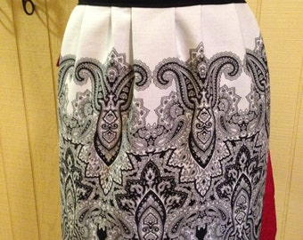One of a Kind Black and Red Apron