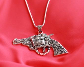 Designer Gun Sterling Silver Pendant – Tamancha