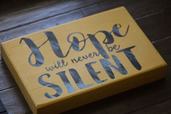 wooden sign office decor inspirational sign hope is