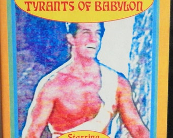 Hercules And The Tyrants of Babylon VHS 1996 Something Weird Video Movie; 1963 Sword and Sandal Action; Rock Stevens (Peter Lupus)