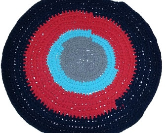 Up-cycled T-shirt handmade oval rag rug for your pet