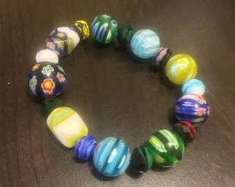 Glass Bead Bracelet (Assorted Colors)