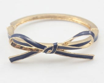 Blue Bow Bangle