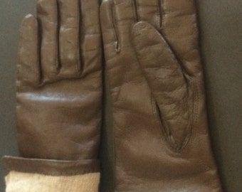 Leather gloves, s/m adult
