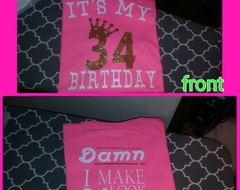 Adult birthday shirt