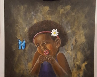 Little Girl and Butterfly