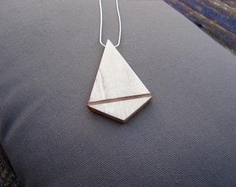 Wooden necklace - diamond