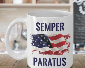 Coast Guard Gift - Semper Paratus - Always Ready - 11oz  or 15oz White Mug