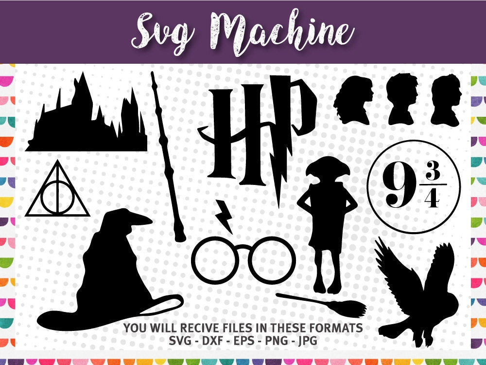 Download Harry Potter SVG DXF EPS cut files svg files for Silhouette