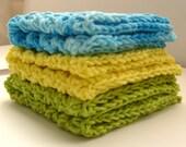 Dishcloth set, Dishcloths, Cotton Dishcloths, Knit Dishcloths, Crochet Dishcloths, Washcloth, Cotton Washcloth, Washcloth set