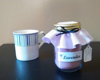 Lavender Candle - Lavender scented candles - 16 oz mason jar candle - purple candle - relaxation candle