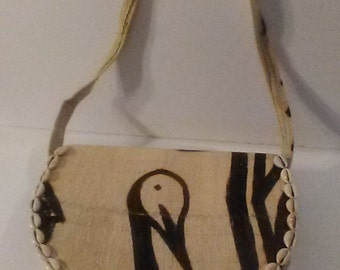Authentic Handmade West Africa Mudcloth Cowrie Shell Wall-hanging or Purse