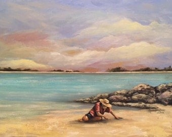 The Beach Find painting seascape