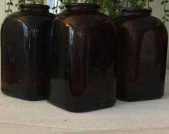 Vintage set of three snuff bottles