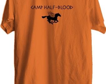 Sale! Camp Half Blood T-shirt, Percy, Jackson Halloween Costume, Halloween tshirt, Print Unisex Fitted