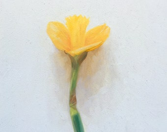 Daffodil flower original oil painting