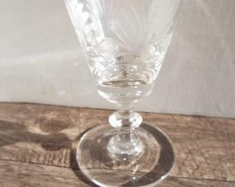 Art Deco Cordial Glass- 1- Roaring Twenties and Vintage Glam Barware