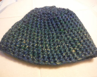 Kids Blue Beanie Hat