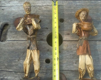Mexican folk art paper mache figurines