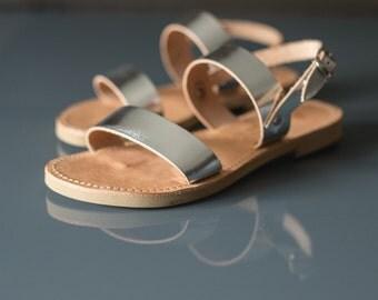Sandals,Greek sandals,Leather sandals,Strap sandals,Handmade sandals,Triskelion,KALLISTO,