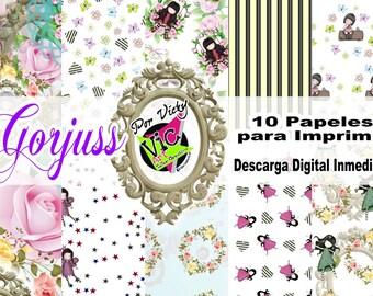 Gorjuss digital papers