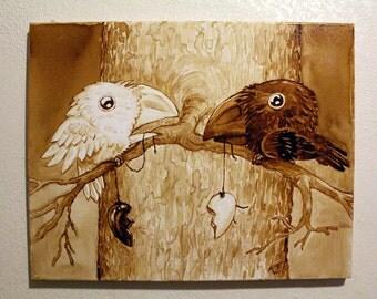 Love Birds Gallery Wrap Reproduction